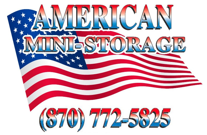 American Mini-Storage logo on contact page